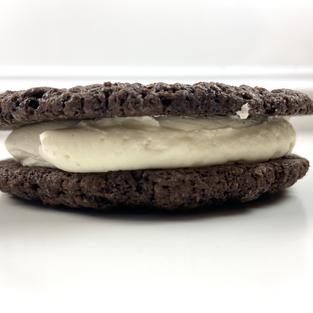 Triple Chocolate Mint Stuffed Cookie