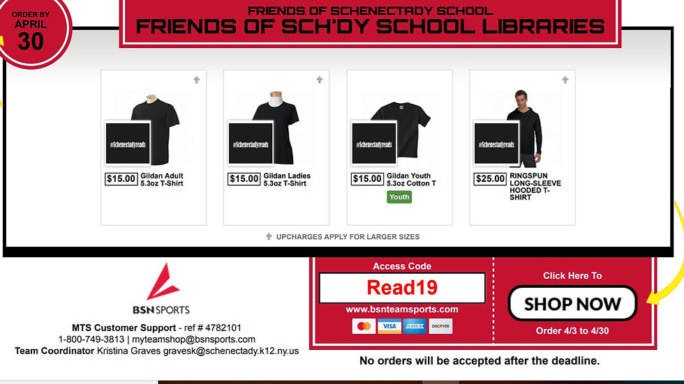 (Hooded) #schenectadyreads Long Sleeve