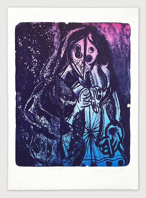 Femme à la banane (bleue et rose) - Rhys Lee