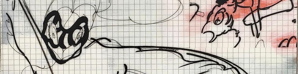 Ken Sortais drawing Galerie Julien Cadet