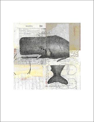 Whale Unframed Print