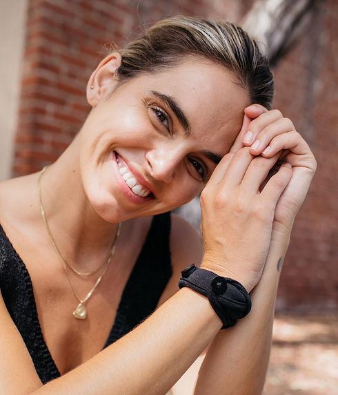 Handy Band Face Mask Wristband Bracelet Happy Simple