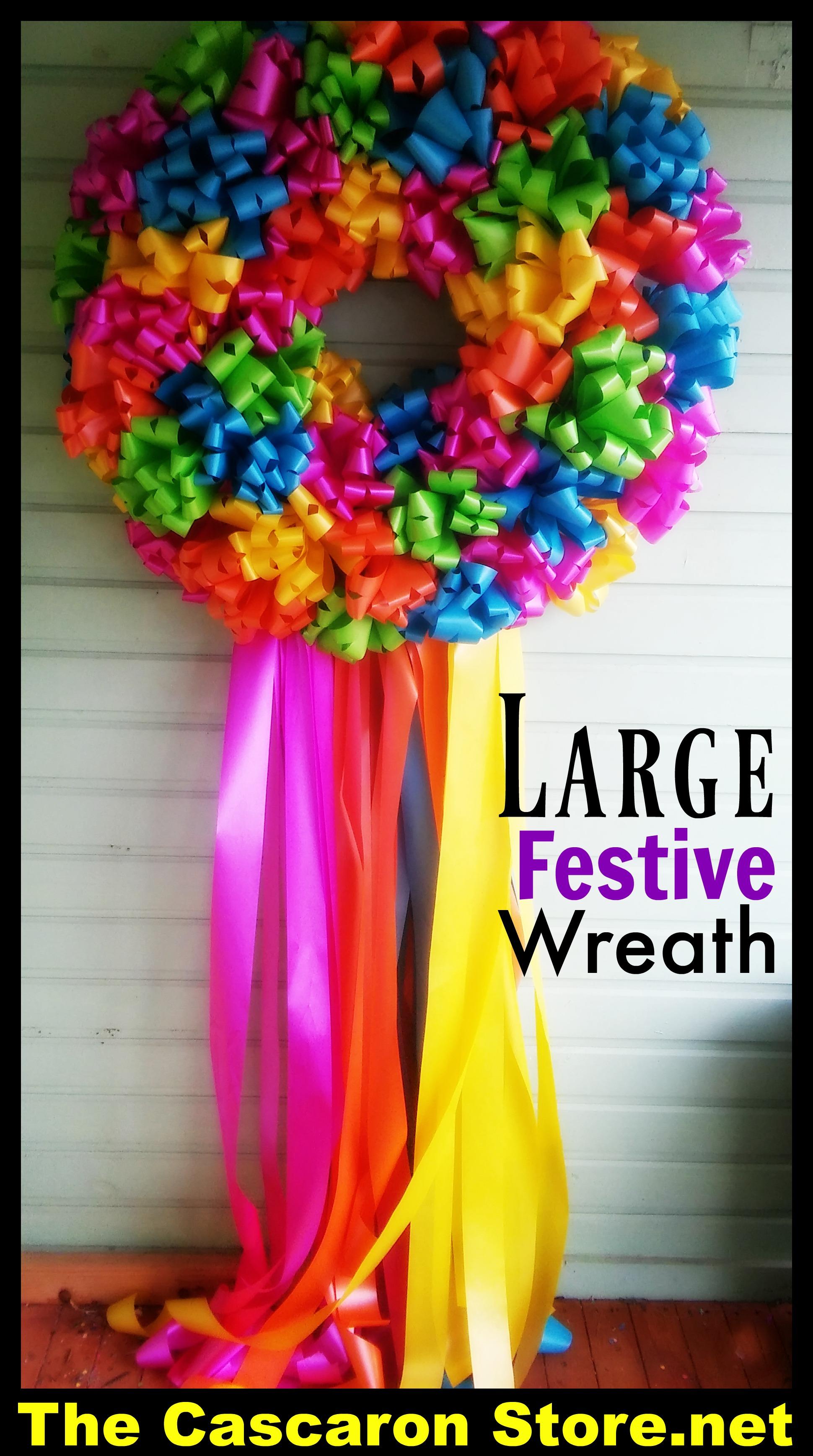 wreath large festive tcs