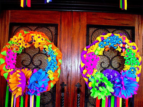 Double Door Fiesta Wreaths