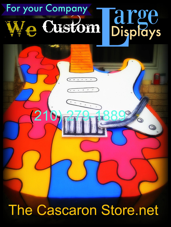 1 a large custom display guitar puzzles