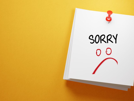 How to apologise.