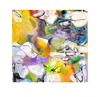 Abstract N92, 180 x 200 cm, acrylic on canvas