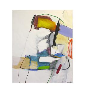 Abstract N6, 120 x 100 cm, acrylic on canvas