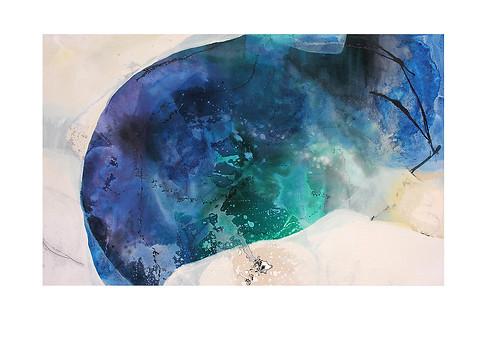 Abstract N93, 90 x 150 cm, acrylic on canvas