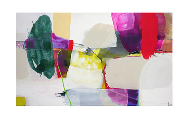 Abstract N33, 90 x 150 cm, acrylic on canvas