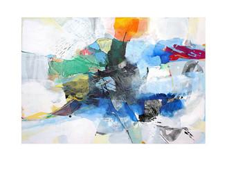 Abstract N85, 90 x 130 cm, acrylic on canvas