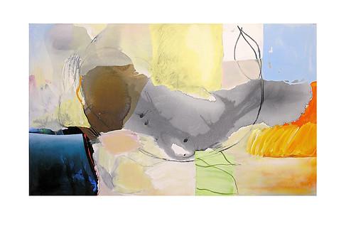 Abstract N71, 90 x 150 cm, acrylic on canvas