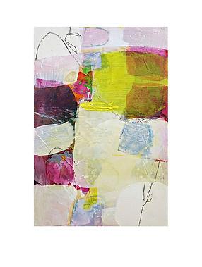 Abstract N59, 75 x 50 cm, acrylic on canvas