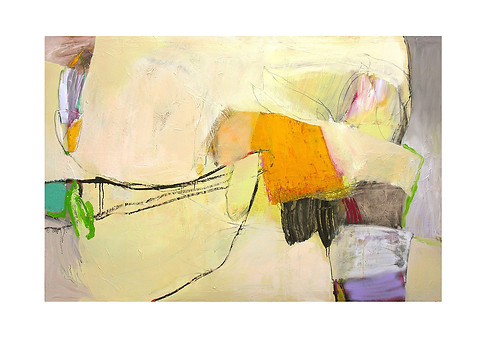 Abstract N14, 90 x 150 cm, oil on canvas