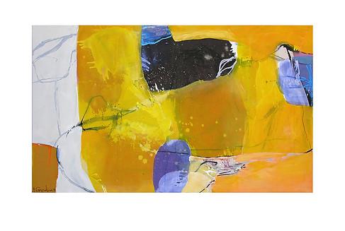 Abstract N8, 90 x 150 cm, acrylic on canvas