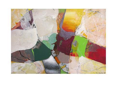Abstract N64, 90 x 130 cm, acrylic on canvas