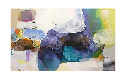 Abstract N28, 90 x 150 cm, acrylic on canvas