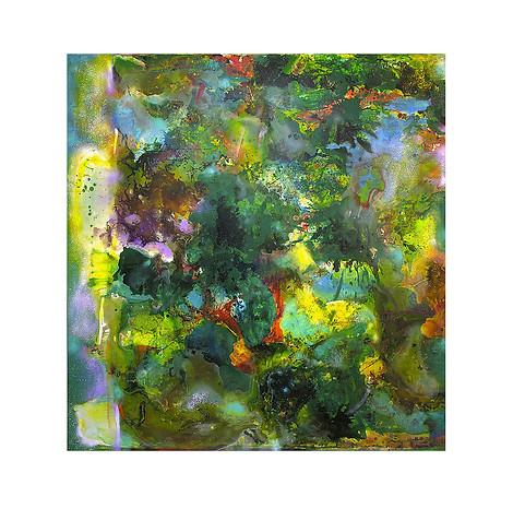 Abstract N13, 190 x 200 cm, acrylic on canvas