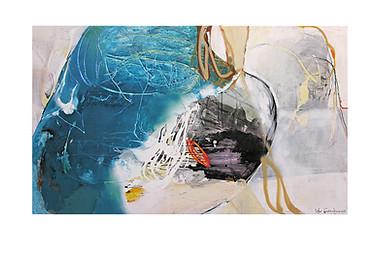 Abstract N47, 90 x 150 cm, acrylic on canvas