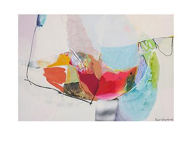 Abstract N39, 90 x 130 cm, acrylic on canvas