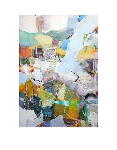 Abstract N99, 200 x 130 cm, acrylic on canvas