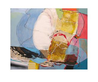 Abstract N42, 80 x 100 cm, acrylic on canvas