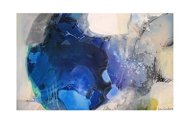 Abstract N77, 90 x 150 cm, acrylic on canvas