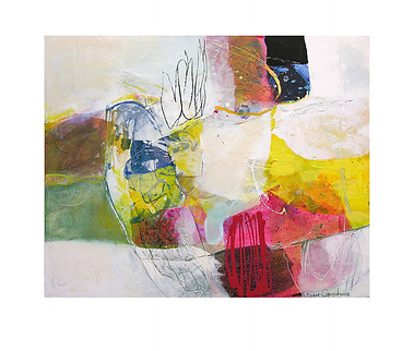 Abstract N70, 80 x 100 cm, acrylic on canvas