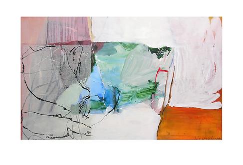 Abstract N5, 90 x 145 cm, acrylic on canvas