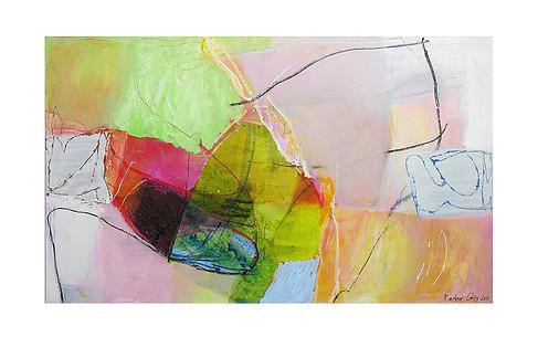 Abstract N41, 90 x 150 cm, acrylic on canvas