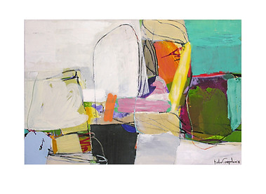 Abstract N34, 100 x 150 cm, acrylic on canvas
