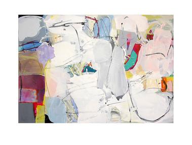 Abstract N84, 90 x 130 cm, acrylic on canvas