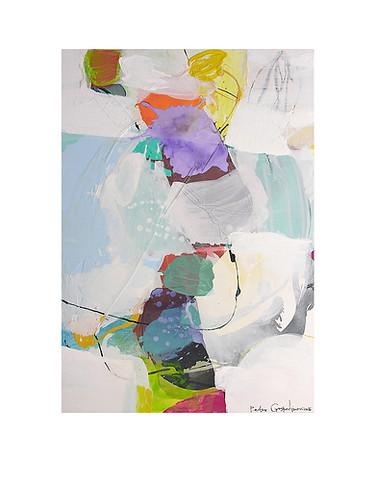 Abstract N36, 100 x 80 cm, acrylic on canvas
