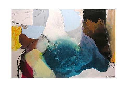 Abstract N26, 100 x 150 cm, acrylic on canvas