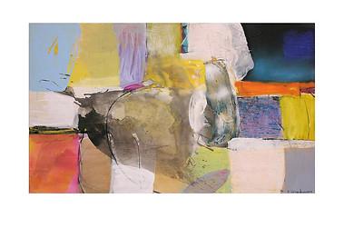 Abstract N75, 90 x 150 cm, acrylic on canvas