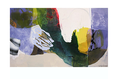 Abstract N48, 90 x 150 cm, acrylic on canvas