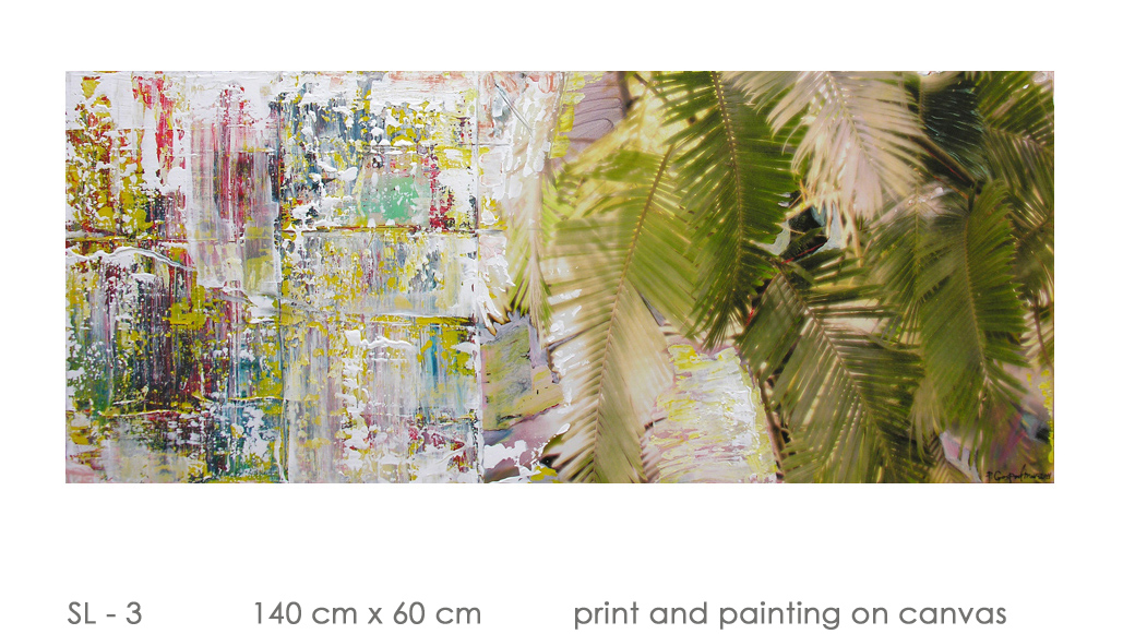 SL - 3 140 cm x 60 cm  print and painting on canvas