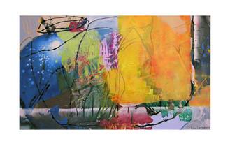 Abstract N69, 90 x 150 cm, acrylic on canvas