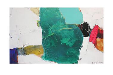 Abstract N32, 90 x 150 cm, acrylic on canvas