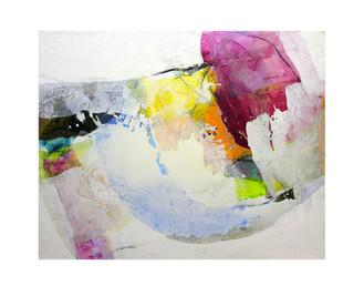 Abstract N46, 80 x 100 cm, acrylic on canvas