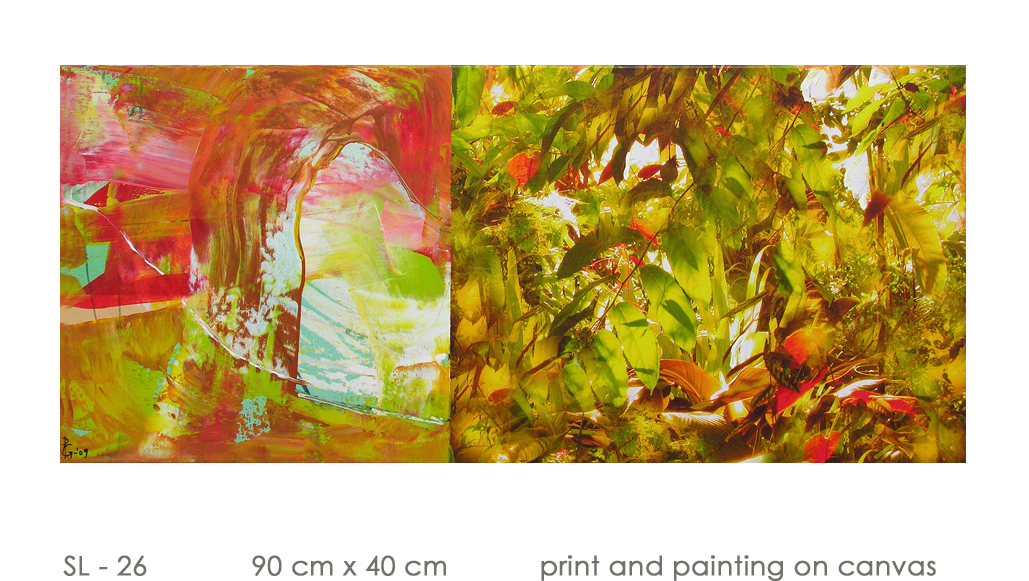 SL - 26 90 cm x 40 cm  print and painting on canvas