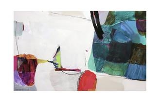 Abstract N25, 90 x 150 cm, acrylic on canvas