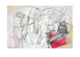 Abstract N1, 130 x 200 cm, oil on canvas