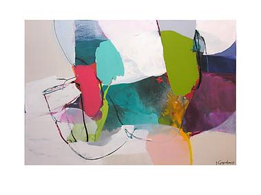 Abstract N35, 90 x 130 cm, acrylic on canvas