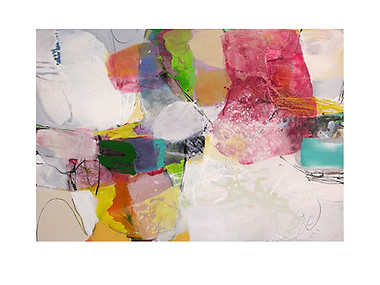 Abstract N83, 90 x 130 cm, acrylic on canvas