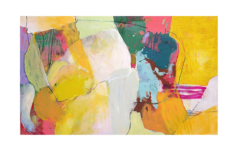 Abstract N30, 90 x 150 cm, acrylic on canvas