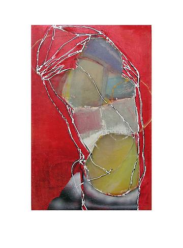 Abstract N18, 100 x 70 cm, mixed media