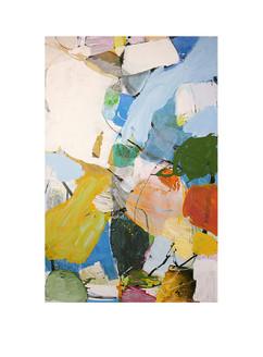 Abstract N91, 200 x 130 cm, acrylic on canvas