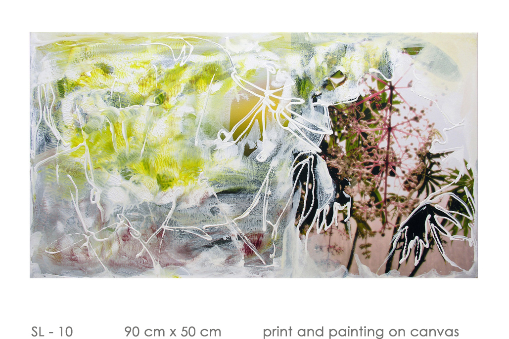 SL - 10 90 cm x 50 cm  print and painting on canvas