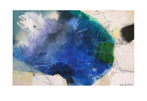 Abstract N79, 90 x 150 cm, acrylic on canvas